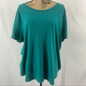 Old Navy Slub Knit Tee Emerging Emerald